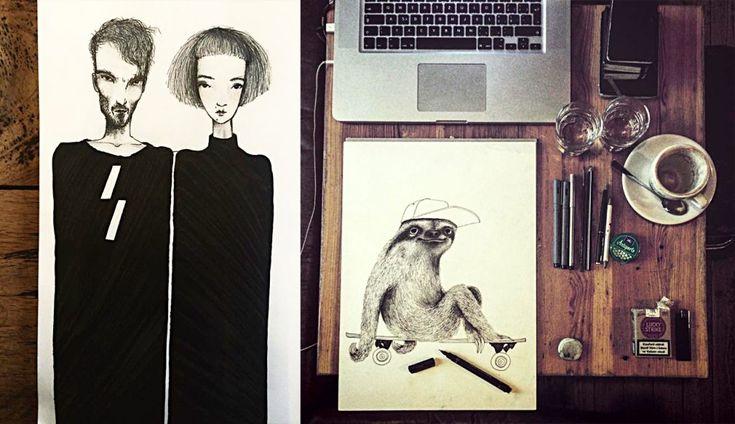Pohádkově snové bytosti české malířky Lény Brauner – Creativelife.cz – Kreativní inspirace každý den