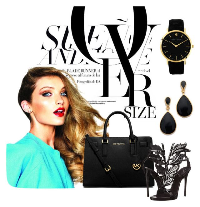 """""""Fashion Outfit in black"""" by il-criticatore-di-telefilm on Polyvore featuring MICHAEL Michael Kors, Giuseppe Zanotti, Kenneth Jay Lane and Larsson & Jennings"""