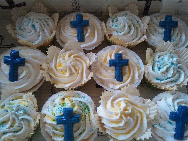 Religious CupcakesCake Cupcakes Decor, Cupcakes Ideas, Cakes Cupcakes Decor, Church Cupcakes, Religious Cupcakes, Cupcakes Rosa-Choqu