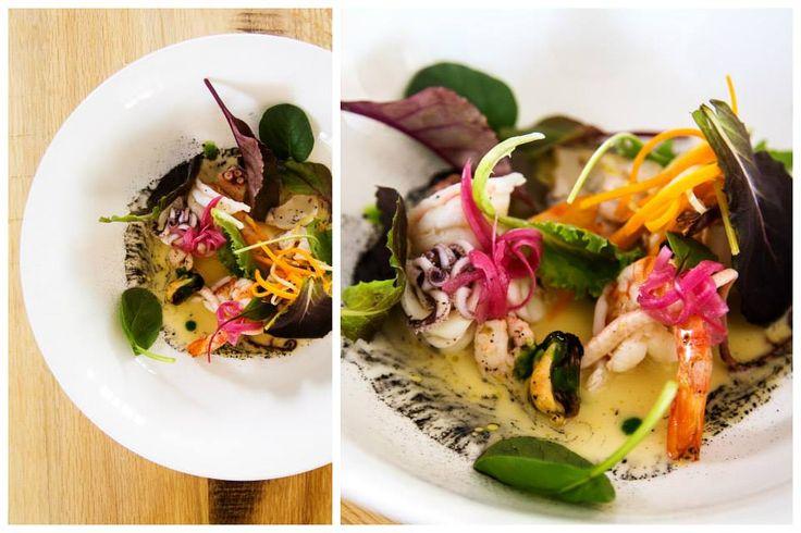 Insalata di mare e verdure, zuppa di vongole all'olio extra vergine di oliva. #insalatadimare #nostranopesaro #cartanostrano