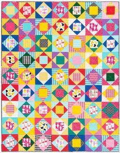 Economy block quilt by Red Pepper Quilts.