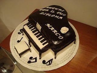 le torte decorate: Torta pianoforte