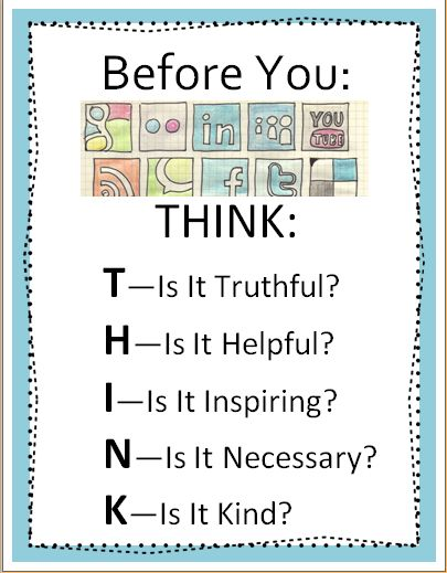 Before You Post THINK