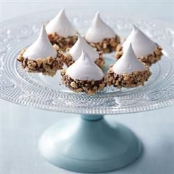I will be making these for Christmas this year.  Chocolate Almond Meringue Drops
