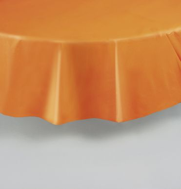 nappe ronde orange en plastique ps et orange. Black Bedroom Furniture Sets. Home Design Ideas