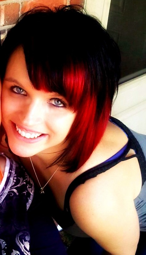 My Red and Black hair! <3