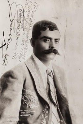 Portrait of Emiliano Zapata, dedicated by the General himself Colonel Felix Rojas. November 1916.