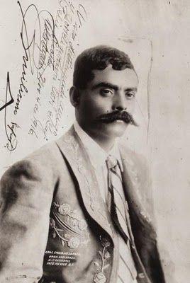 Fotografía de Emiliano Zapata.- 1916