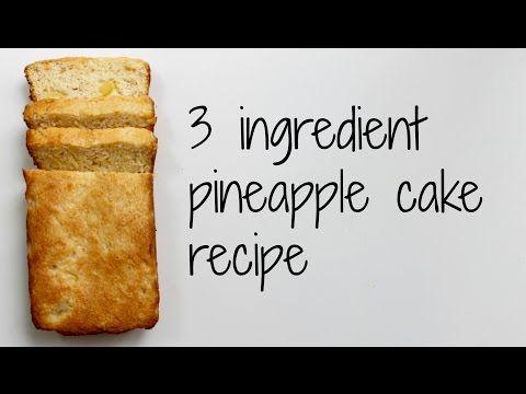 3 Ingredient Pineapple Cake Recipe - Kidspot Australia. Easy, vegan, fat-free cake recipe