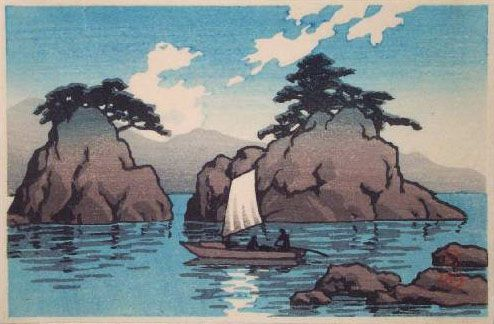 hanga gallery . . . torii gallery: Matsushima by Kawase Hasui