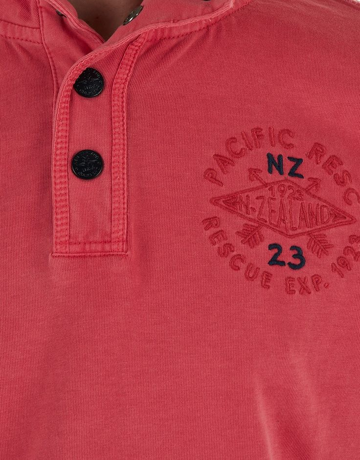 NZA New Zealand Auckland - Polo - Rugby L/S Crimson Red