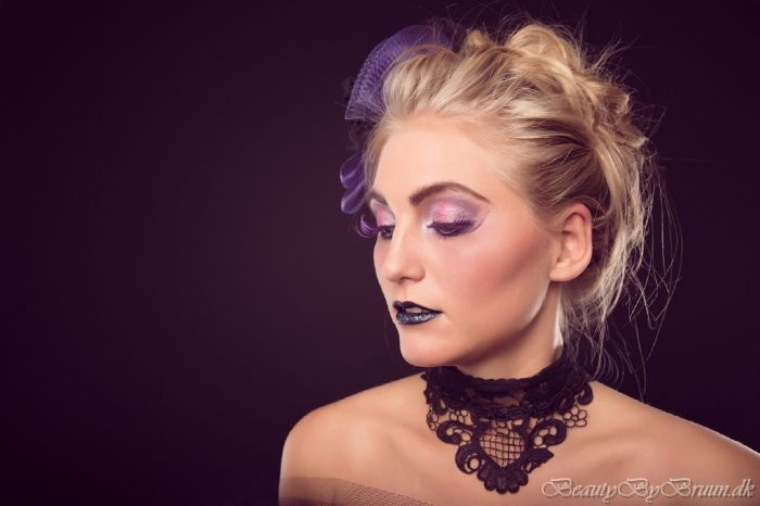 Purple Lady fashion shoot. Makeup and Styling by Makeup Artist Helena Bruun.