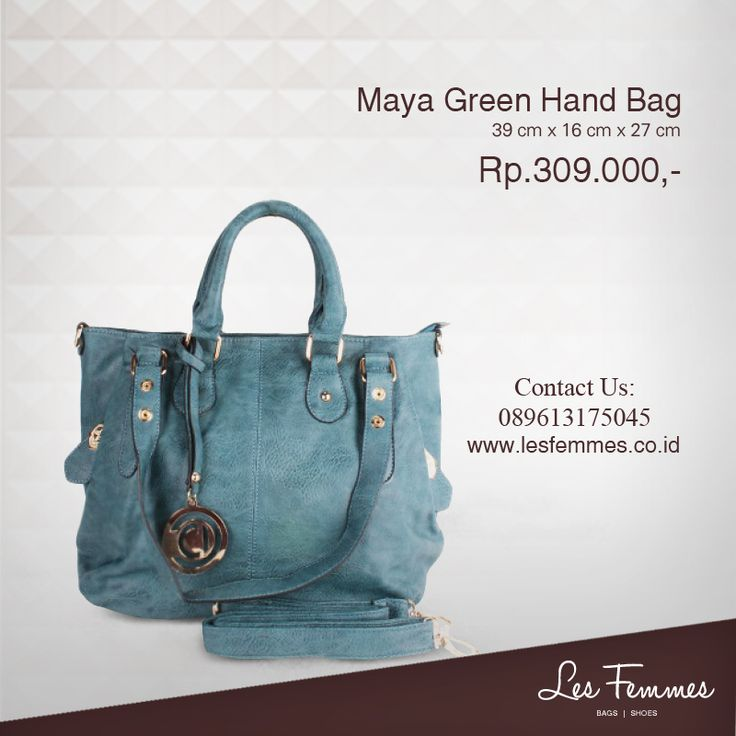 Maya Green Hand Bag 309,000 IDR #Fashion #Woman #bag shop now on http://www.lesfemmes.co.id/hand-bags/maya-green-hand-bag