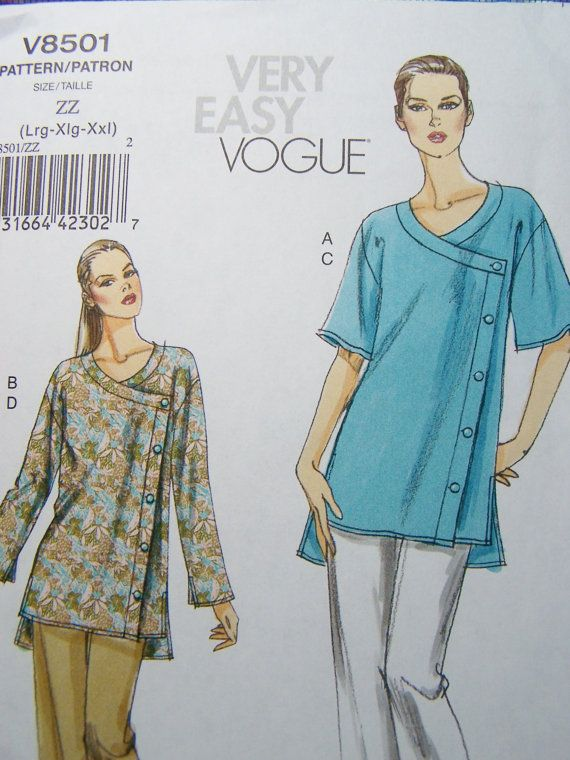 Very Easy Vogue V8501 Sewing Pattern Women's by WitsEndDesign, $8.00