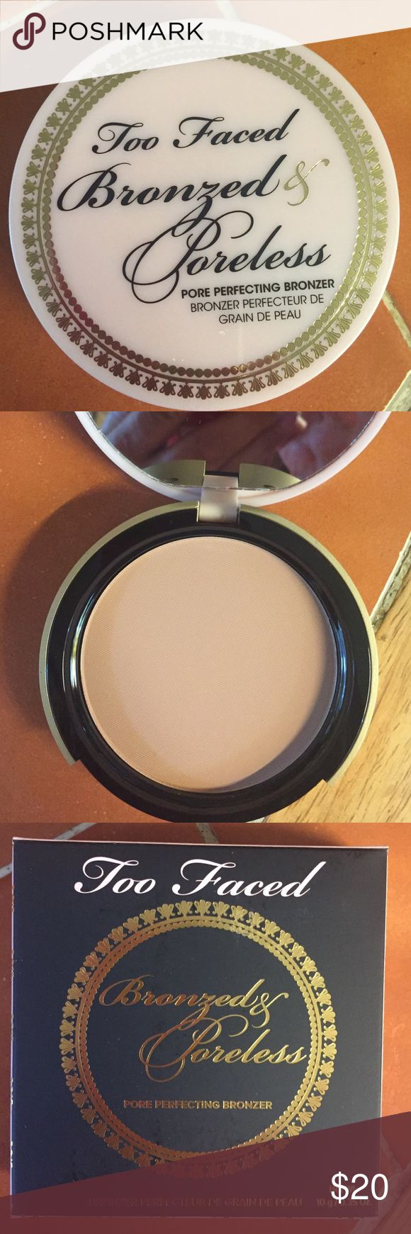 Two Faced Bronzed and Poreless NIB Two Faced Bronzed and Poreless pore perfecting face cream. Two Faced Makeup Bronzer