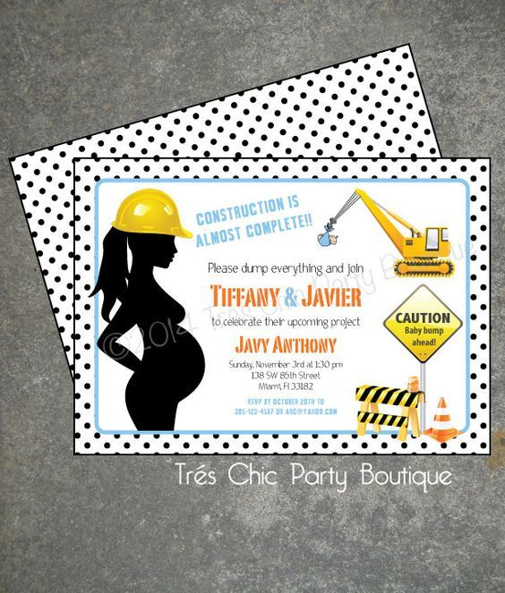 Under Construction Baby Shower Invitation by TresChicParty on Etsy https://www.etsy.com/listing/202122300/under-construction-baby-shower
