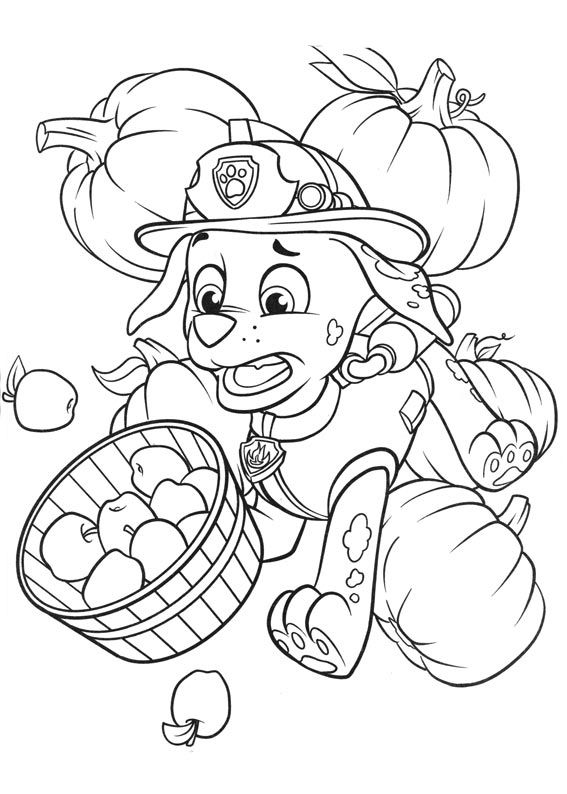paw patrol coloring pages marshall messing up