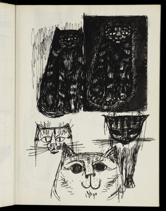 James Boswell, James Boswell 'Five studies of cats', 1953 © The Estate of James Boswell
