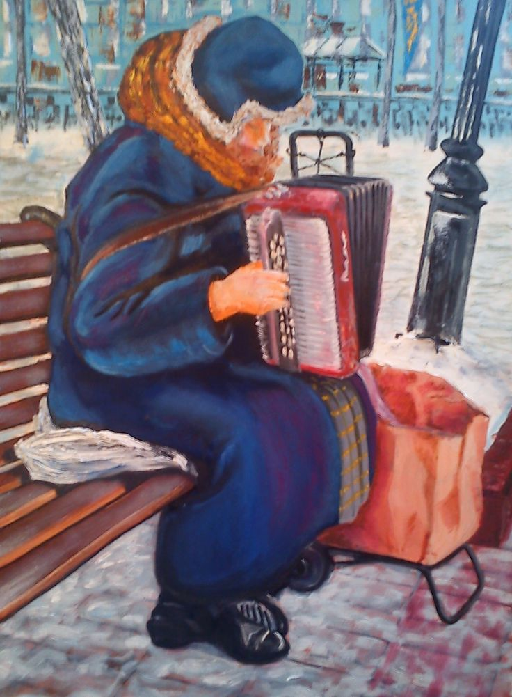 The Accordionist.  Chisty Prudy 2015