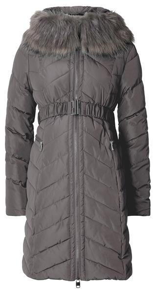 Diese gefütterte Winterjacke von Esprit Maternity hat einen abnehmbaren Pelzkragen, Reißverschluss und Gürtel. Die Jacke mit Reißverschluss-Taschen ist speziell für die Schwangerschaft entworfen, sodass du und dein Kleines schön warm bleiben.