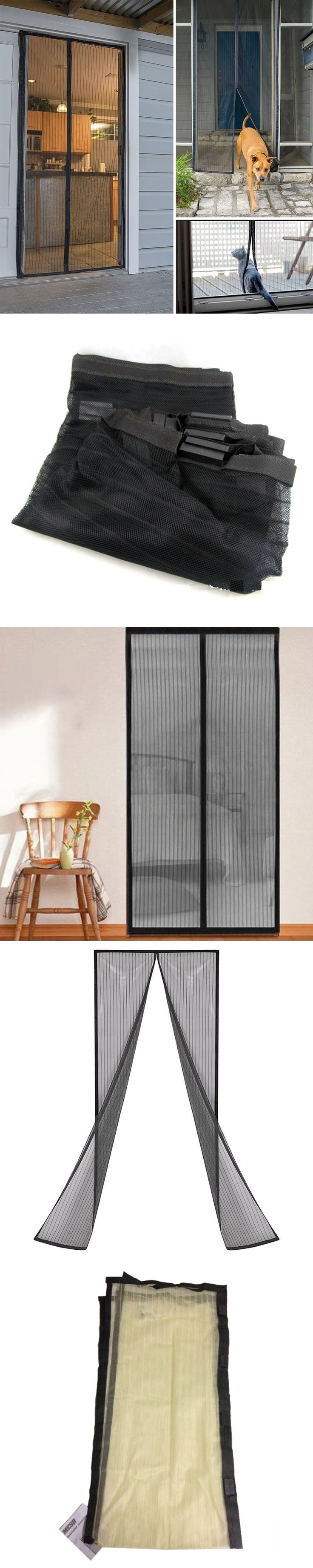 2.1*1m Hands Free Door Screen Curtain Magnetic Screen Door Mosquito Net Door Anti Mosquito Curtains Screen Fly Insect Stop Net