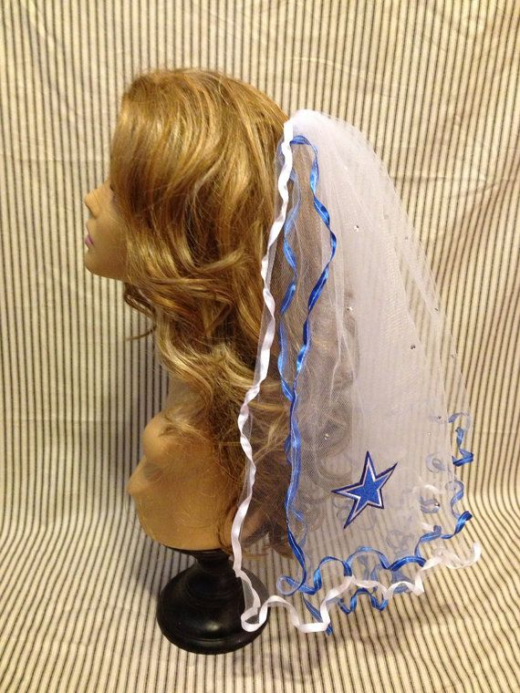 Dallas Cowboys Bachelorette Party Veil on Etsy, $35.00
