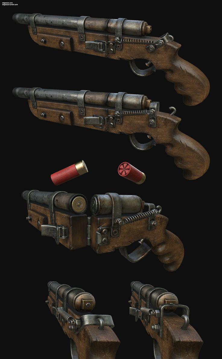 ArtStation - Homebrew Shotgun, Pedro Amorim