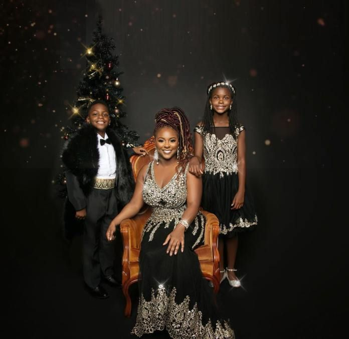 Black Royalty- Kevin Harts Ex-wife Torrei Claps Back With Her Own Family Christmas Card
