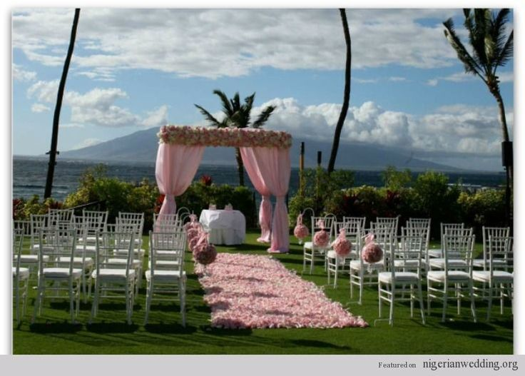 Outside wedding ceremony decorations nigerian wedding for Outdoor wedding ceremony decorations pictures
