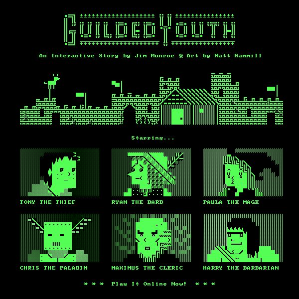 Guilded Youth: An Interactive Story by Jim Munroe, Art by Matt Hammill