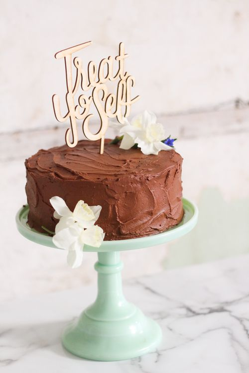 Treat Yo'Self Cake Topper