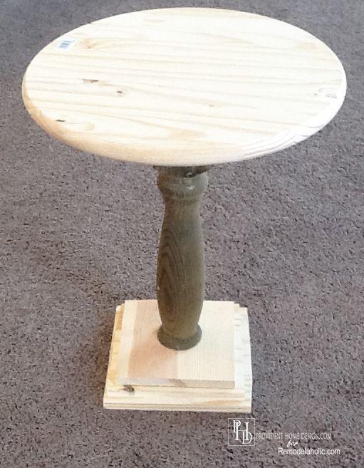 DIY Pedestal Side Table Tutorial
