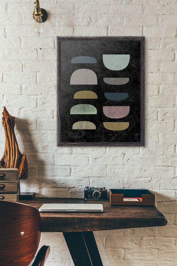 Mid Century Wall Art, Geometric Wall Decor, Modern Art Print, Kitchen Art, Bowl, Minimalist, Cafe Decor, Loft, 5x7 8x10 11x14 A3 A4 A5, D031