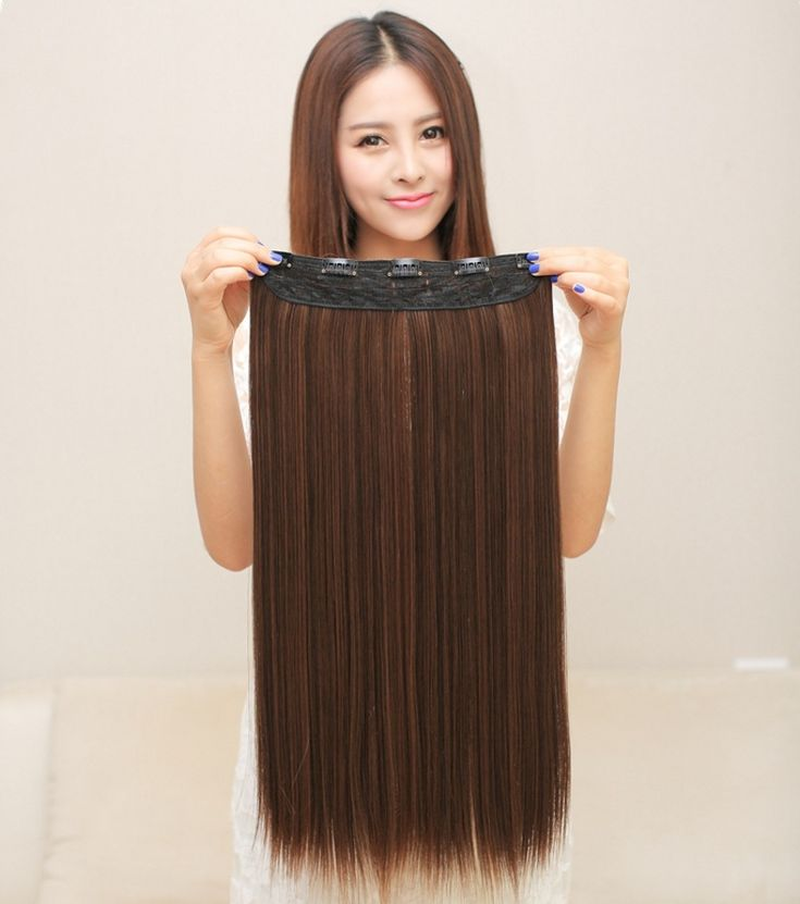 Long straight  synthetic hair extension,24inches Heat Resistant Natural hairpiece hair, Full Head Clip in Hair Extensions