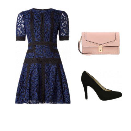 Kanten blauw jurk/  Lace Dress/ Summer dresses 2017