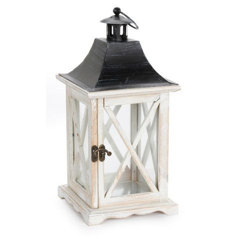 Wholesale Event Solutions - Set of 12 White Wooden Lanterns - 6.29 x 6.29 x 13.77 inches, $278.88 (http://www.eventswholesale.com/set-of-12-white-wooden-lanterns-6-29-x-6-29-x-13-77-inches/)