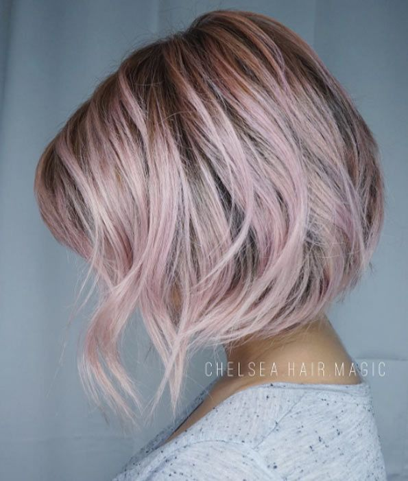 Pale slate. (Sunny Su) Golden blonde. (Christina) Pearl blonde. (Anna Russett) Coral pink. (Christina) Sun-kissed balayage. (Alen M) Icy rose. (Amania Shawn) Red. (Christina) Dove grey. (Jessica Gonzalez) Honey blonde balayage. (Alen M) Lilac. (Linh Phan)