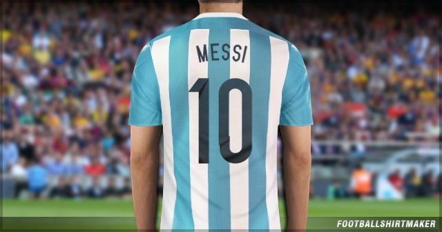 La camiseta local de Argentina de Messi