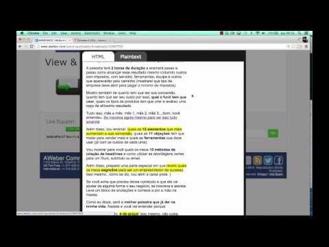 http://www.estrategiadigital.pt/conhece-o-curso-copysamurai-de-conrado-adolpho/ -  Nesta breve aula sobre copywriting, Conrado Adolpho dá uma pequena amostra do conteúdo do curso CopySamurai. Já conheces o curso de copywriting do Conrado Adolpho? O objectivo é ensinar a produzir excelente copywriting para todos os tipos de texto essencial para atingir mais conversões através de sequências de e-mail marketing, posts e anúncios nas redes sociais e AdWords, carta de vendas e vídeos.
