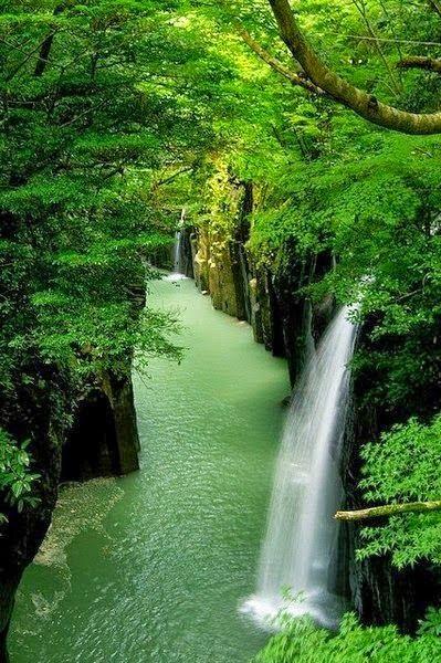 Japan Waterfall canyon,Takachiho...
