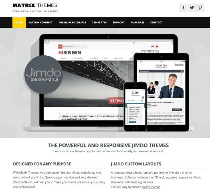 official website templates