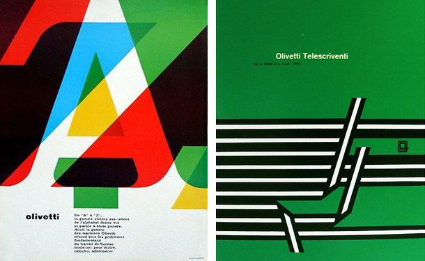 Walter Balmer did not only design the Olivetti logo, but a lot of posters for the company as well.