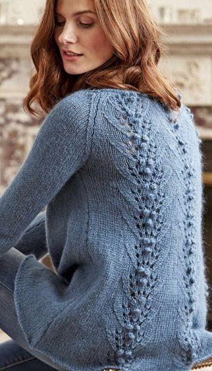 Пуловер с красивой спиной