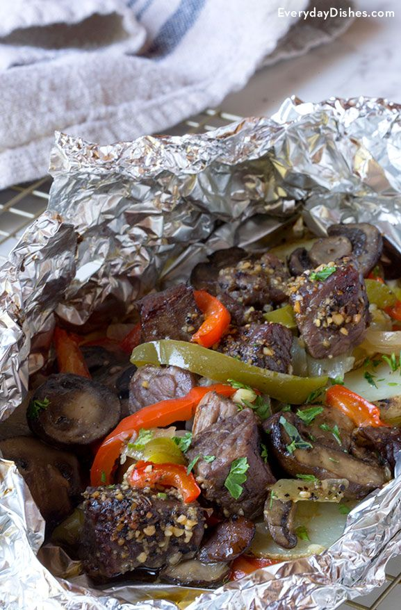 Our easy-to-assemble beef and veggie foil packet recipe is a fun and super simple to way to make a wholesome meal on the grill!