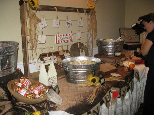 My Popcorn Bar! :  wedding diy popcorn bar reception rustic 321179 2237160560977 1006875300 32071232 1515252655 N