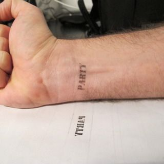 DIY Make Your Own Tattoos (temporary!) Print anything on your skin: #tattoos #partystamp