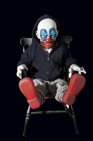 Evil Clown Doll Sitting In A Chair Aa Halloween Clowns
