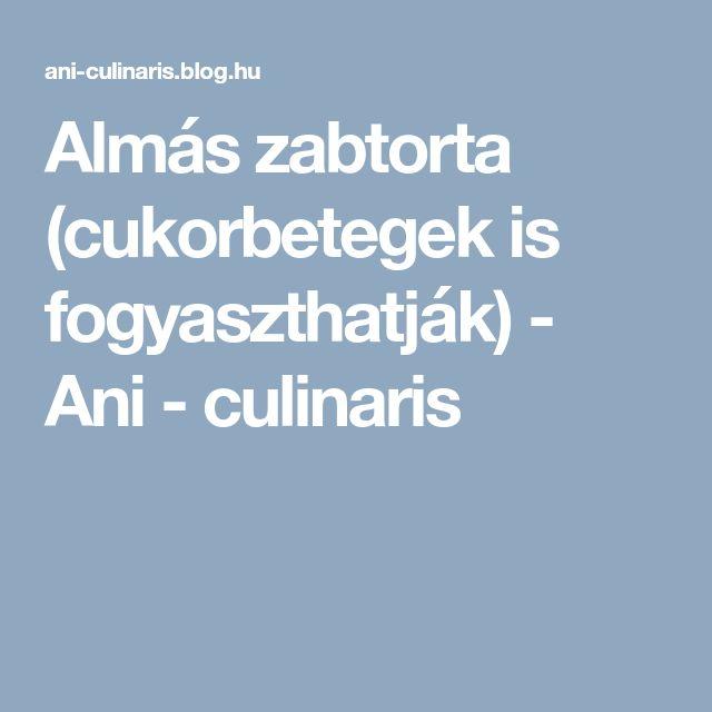 Almás zabtorta (cukorbetegek is fogyaszthatják) - Ani - culinaris