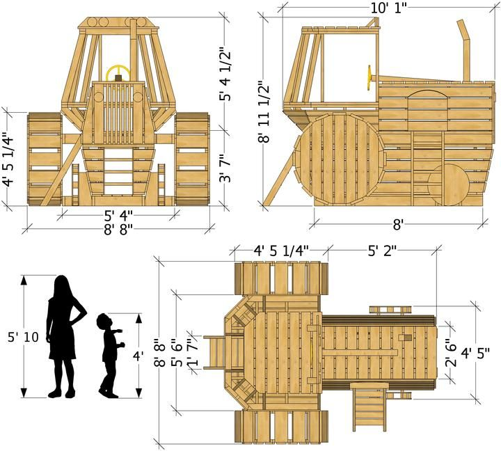 Farm tractor playset plan playset plans shed plans