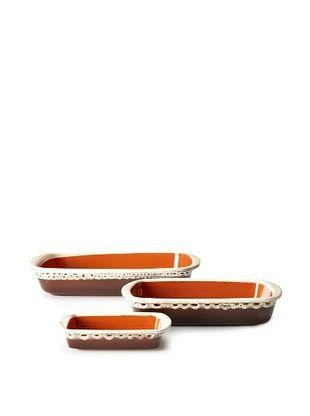 48% OFF COLI 3-Piece Rectangular Baker Set, Brown